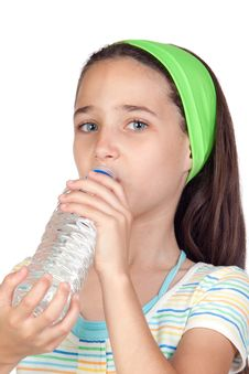 Free Funny Child With Water Bottle Stock Photography - 15134942
