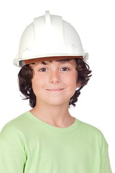 Free Beautiful Child With Helmet Stock Images - 15135124