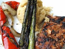 Free Grilled Salmon With Fresh Dill Stock Photos - 15135213