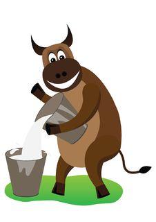 Cheerful Bull Stock Photo