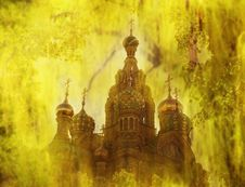 Free Kremlin In Gold Royalty Free Stock Image - 15135396