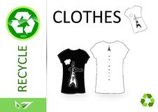 Free Please Recycle Clothes Royalty Free Stock Image - 15135476