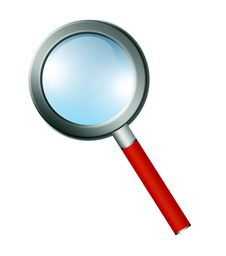 Free Isolated Magnifying Stock Photography - 15135742