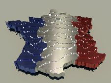 Free Metallic France Map Royalty Free Stock Photography - 15135757