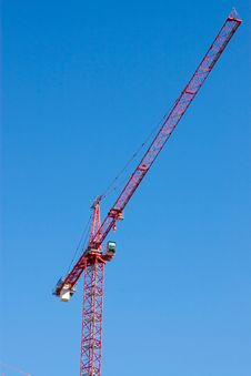 Free Red Construction Crane Stock Image - 15136571