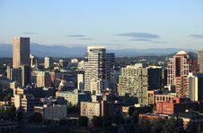 Free Portland Oregon At Sunset. Stock Image - 15137261