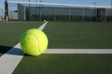 Free Tennis Balls On The Court Royalty Free Stock Images - 15137549