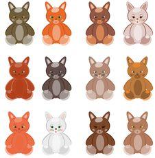 Free Twelve Multi-coloured Kittens Royalty Free Stock Photos - 15137908