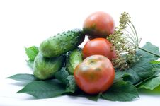 Free Tomatoes And Cucumber Royalty Free Stock Image - 15138336