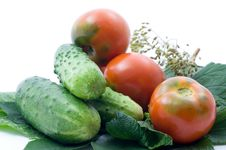 Free Tomatoes And Cucumber Royalty Free Stock Image - 15138416
