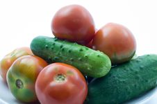 Free Tomatoes And Cucumber Stock Images - 15138624