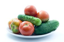 Free Tomatoes And Cucumbers Stock Image - 15138631