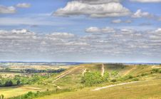 HDR Of Dunstable Downs Stock Image