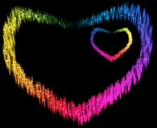 Free Two Spectrum Hearts Stock Photography - 15138902