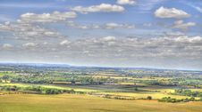 HDR Of Dunstable Downs Royalty Free Stock Image