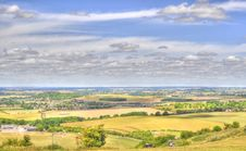 HDR Of Dunstable Downs Royalty Free Stock Photography