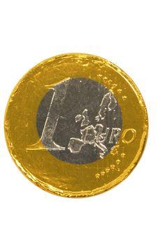 Euro Chocolate Royalty Free Stock Photos