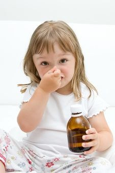 Free Sick Little Girl Royalty Free Stock Photo - 15139395