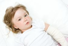 Free Sick Little Girl Royalty Free Stock Image - 15139426