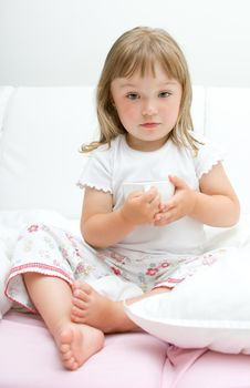 Free Sick Little Girl Stock Image - 15139441