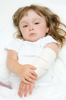 Free Sick Little Girl Stock Photos - 15139563
