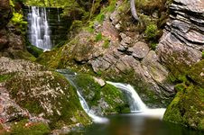 Waterfall In National Park Krkonose Royalty Free Stock Photos