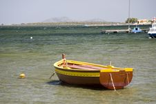 Free Traditional Boat At The Sea Royalty Free Stock Image - 15139776