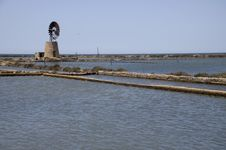 Free Old Windmill And Salt Marshes Stock Image - 15139921