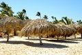 Free Parasols On Beach Stock Photography - 15143852