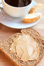 Free Tasty Healthy Wholewheat Bread And Coffee Stock Photo - 15146150