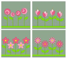 Free Vintage Flower Background Stock Photos - 15141223