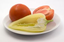 Free Sweet Peppers And Tomatoes Royalty Free Stock Image - 15141466