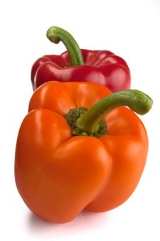 Free Orange And Red Bell Peppers Royalty Free Stock Images - 15142119