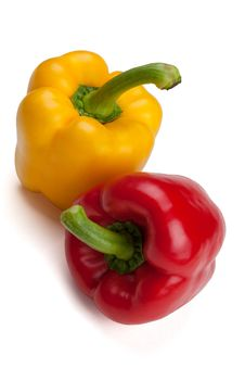 Free Orange And Red Bell Peppers Stock Photo - 15142220