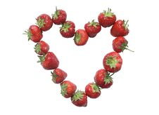 Heart Made From Strawberries