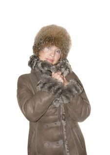 Free Woman In Fur Coat Royalty Free Stock Photography - 15142867