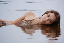 Free Portrait Beautiful And Sexual Girl In River Stock Photos - 15142973