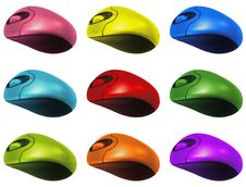 Free Colourful Computer Mouses Stock Photo - 15143190
