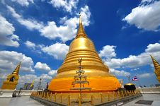 Thailand Landmark Golden Mount (wat Sraket)  B Royalty Free Stock Photography