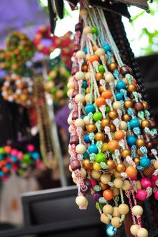 Colorful Necklaces Stock Photos