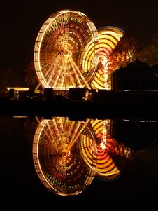 Free Fair At Night Over Water Royalty Free Stock Photo - 15144145