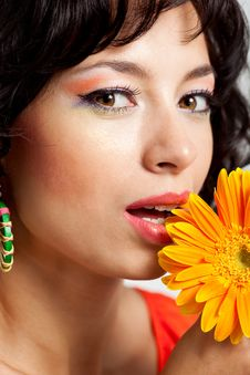Free Woman With Flower Stock Photo - 15144890