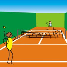 Free Tennis Game Royalty Free Stock Photography - 15144987
