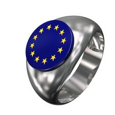 Ring With Symbol European Union 03 Royalty Free Stock Images