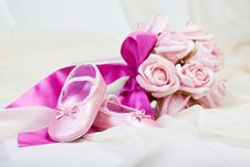 Pink Baby Shoes Stock Images