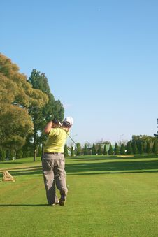Free Golfer On The Fairway Stock Photos - 15146003