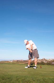 Golfer On The Tee Box Royalty Free Stock Photos