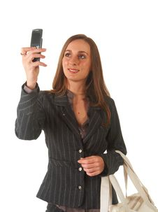 Free Beautiful Brunette Businesswoman Stock Photo - 15146020