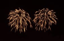 Free Gold Fireworks Royalty Free Stock Photo - 15146105