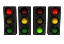 Free Set Of Traffic Lights Stock Photos - 15146383